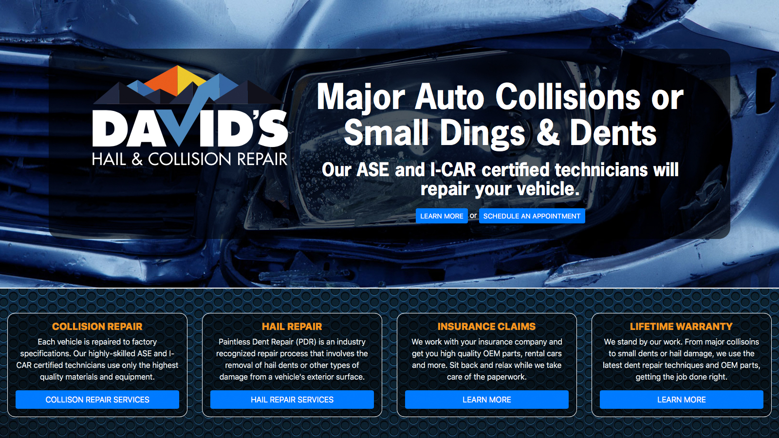 Davids Hail and Collision Home Page