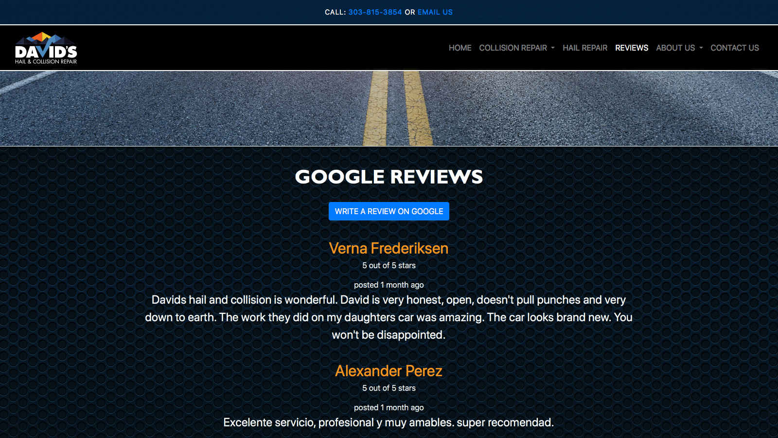 Davids Review Page