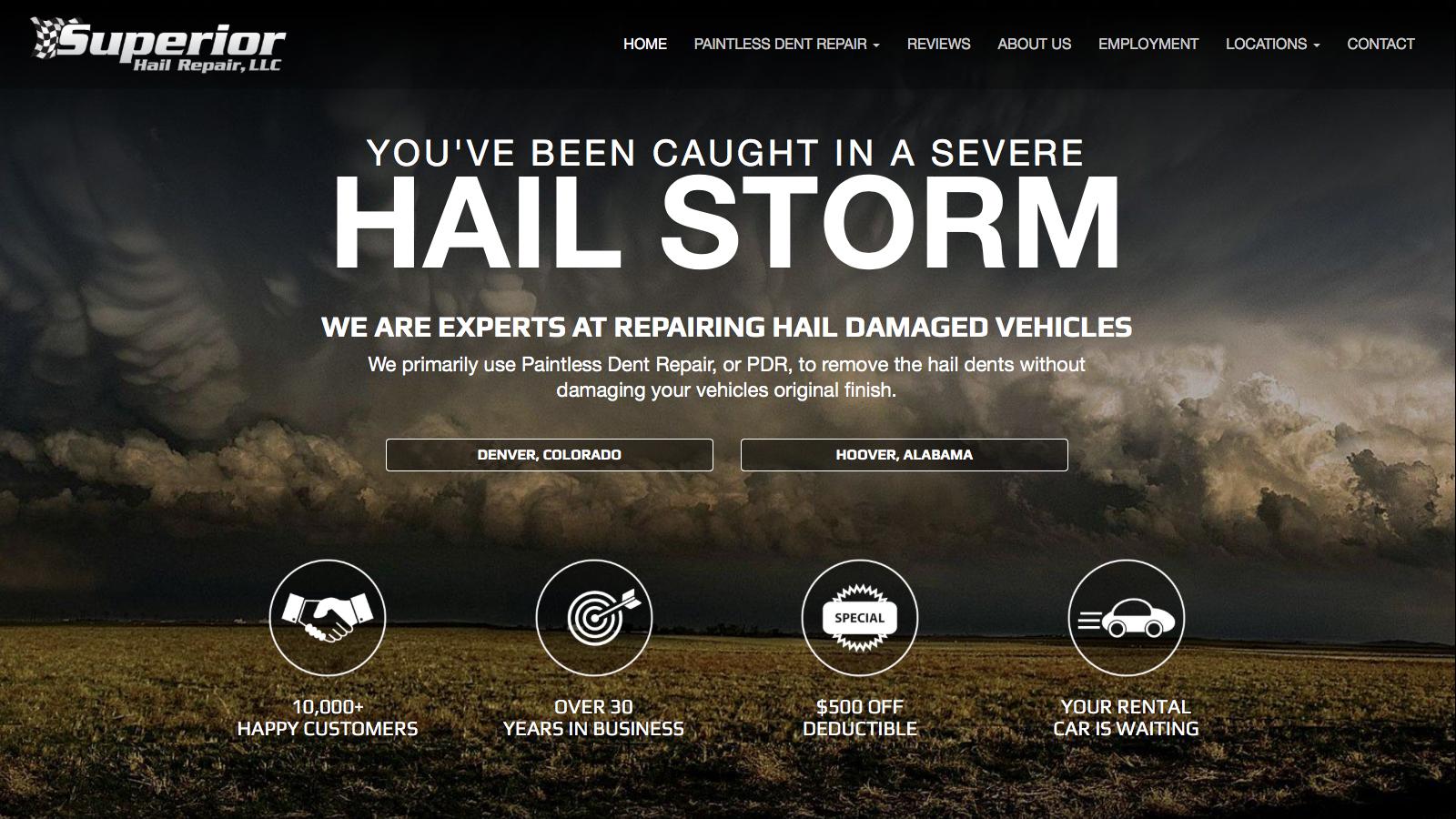 Superior Hail Repair Home Page